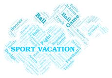 Sport Vacation word cloud. Wordcloud made with text only vector illustration