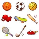 Sport. Vector illustration of Cartoon Sport set Stock Image