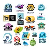 Sport vector logo design template. fitness or Stock Image