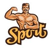 Sport vector logo. gym, bodybuilding icon Stock Image
