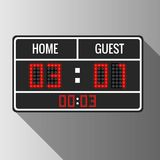 Sport vector scoreboard Royalty Free Stock Photos