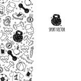 Sport vertical banner white and black vector. Royalty Free Stock Photos