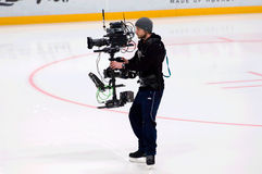 Sport video reporter Royalty Free Stock Images