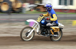 Sport vintage motocycle race. Royalty Free Stock Photography