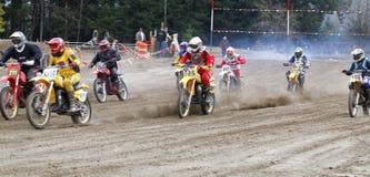 Sport vintage motocycle race. Stock Photography