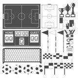Sport-voetbal-materiaal zwarte Royalty-vrije Stock Foto's