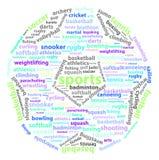 Sport-Wörter vektor abbildung