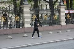 Sport walking on a  street royalty free stock images