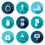 Sport Walking Icons Set. Vector Illustration Stock Photos