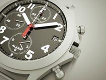 Sport watch rendered on dark Stock Images