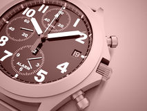 Sport watches rendered on red Stock Images