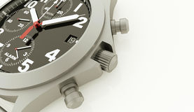Sport watches rendered on white Royalty Free Stock Images