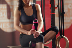 Sport water bottle Stock Images
