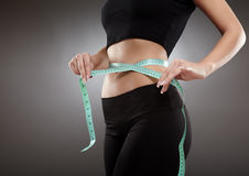 Sport and weight loss concept Stock Photos