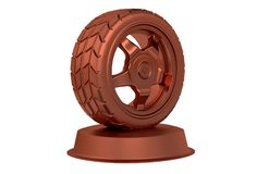 Sport Wheel Bronze Trophy Royalty Free Stock Image