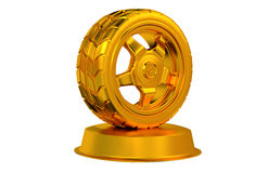 Sport Wheel Golden Trophy Stock Photos