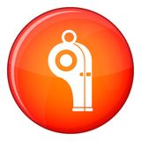 Sport whistle icon, flat style Royalty Free Stock Images