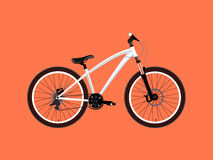 Sport white Bicycle Stock Photography