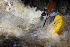 Sport: Whitewater Flößen Lizenzfreies Stockfoto