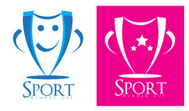 Sport winner cup competition logo Stock Photo