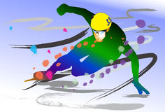 Sport in winter Royalty Free Stock Photography