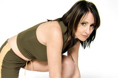 Sport woman. A model portrait in the studio stock image