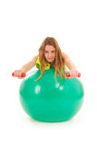 Sport woman with ball Stock Photography