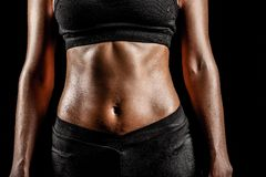 Sport woman body Royalty Free Stock Images