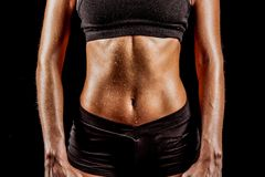 Sport woman body Royalty Free Stock Image