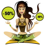 Sport woman doing yoga on the mat. Sport girl doing yoga on the mat Royalty Free Stock Image