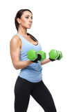 Sport woman with dumbbells Royalty Free Stock Photos