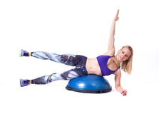 Sport woman exercise with a pilates ball Royalty Free Stock Photo