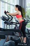 Sport woman exercising gym, fitness center Royalty Free Stock Photography