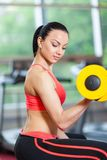 Sport woman exercising gym, fitness center Stock Photography