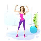 Sport woman fitness girl exercise workout trainer Royalty Free Stock Photography