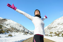 Sport woman freedom success royalty free stock image