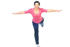 Sport woman with hands outstretched Stock Images