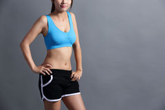 Sport Woman with health figure Royalty Free Stock Photography
