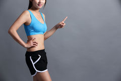 Sport Woman with health figure Stock Photography
