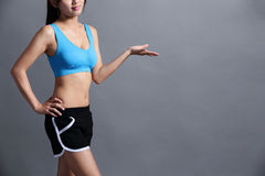 Sport Woman with health figure Stock Photos