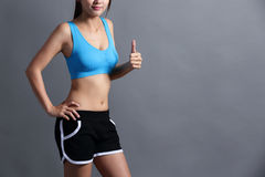 Sport Woman with health figure Stock Photo