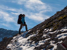 Sport Woman In Mountains Royalty Free Stock Photos