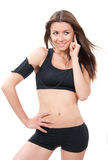 Sport woman after jogging workout Stock Photography