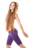 Sport woman in  with long hair on yoga pose Stock Image