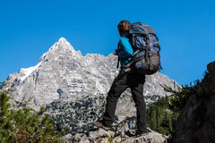Sport  woman in mountains Royalty Free Stock Photo