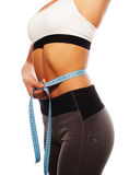 Sport woman with perfect fitness body Stock Photography