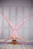 Sport woman relax suit yoga Royalty Free Stock Photography