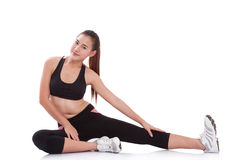 Sport woman stretching exercise Stock Photo