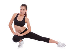 Sport woman stretching exercise. Royalty Free Stock Photo
