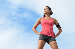 Sport woman success Royalty Free Stock Photo